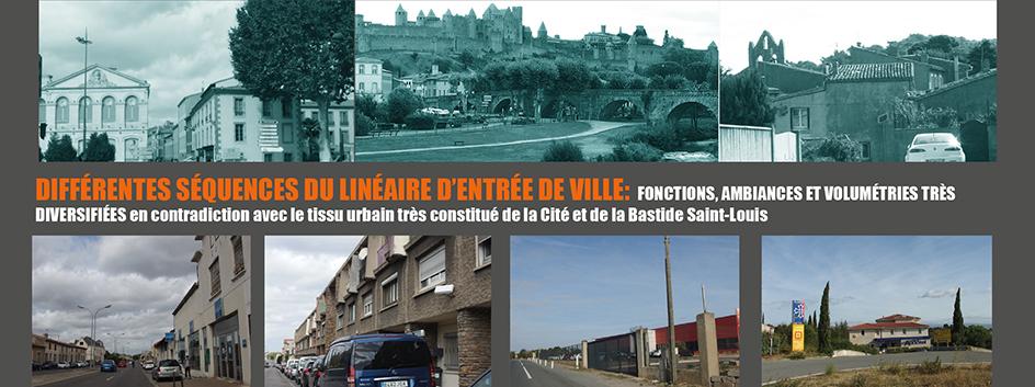séquences entrée de ville Est - Carcassonne