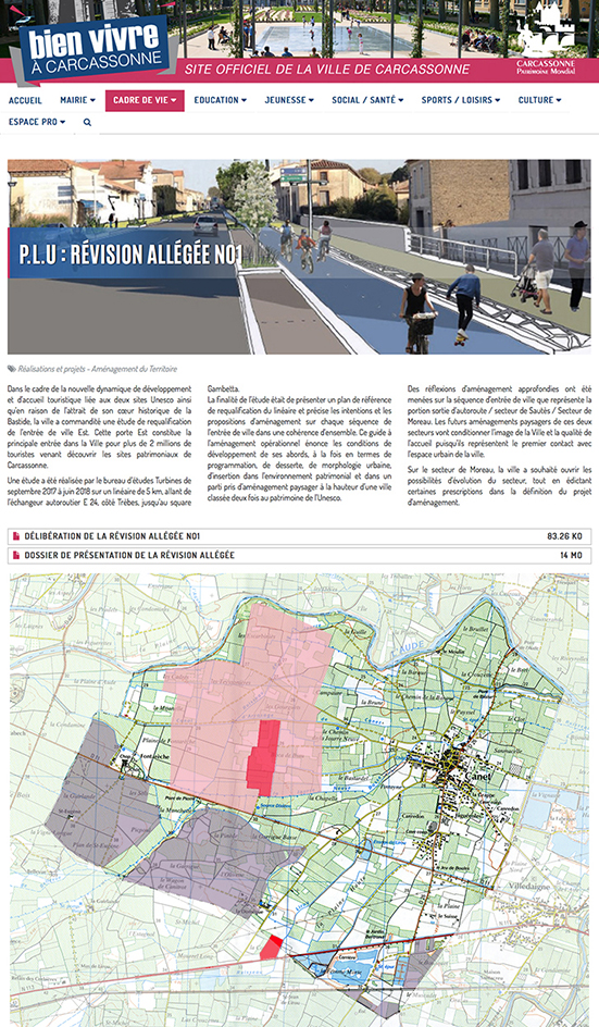 Extrait du site internet de la Ville de Carcassonne / Plan de Canet d'Aude