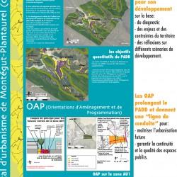 panneau d'information sur le PLU - Montégut-Plantaurel (09)
