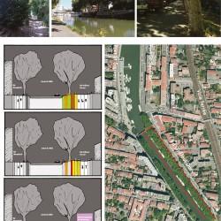 scénarios proposés - quartier fluvial Griffoul-Dorval / canal du Midi - Toulouse