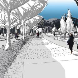 croquis - étude de recomposition urbaine à Couffoulens (11)