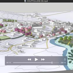 film 3D - étude de recomposition urbaine à Couffoulens (11)