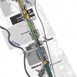 projet ferroviaire le long du canal latéral - secteur Nord de Toulouse